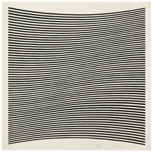Untitled (La Lune en Rodage – Carlo Belloli) by Bridget Riley at