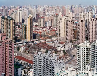Urban Renewal no 5. Overview From Top Of Military Hospital Shanghai, China by Edward Burtynsky at