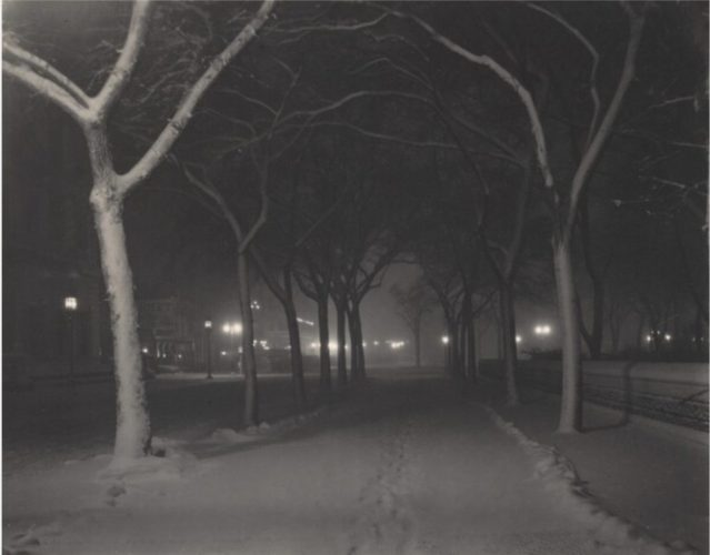 An Icy Night by Alfred Stieglitz at