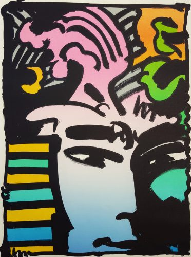 Aztec Man by Peter Max at