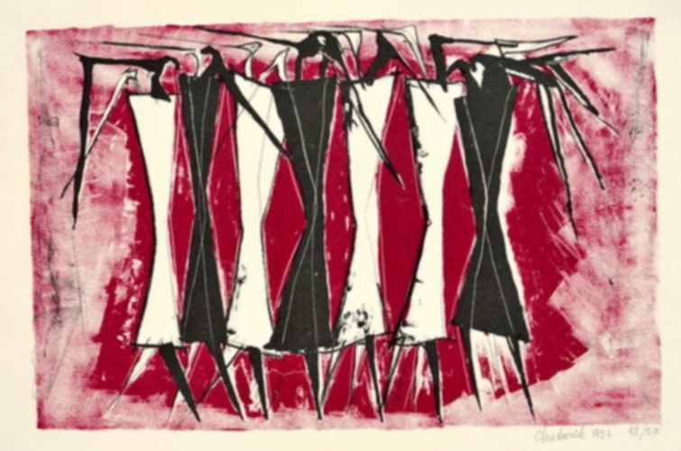 Standing Figures, 1952 by Lynn Chadwick at K Contemporary Ltd.