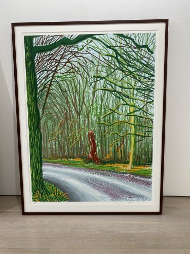 The Arrival of Spring in Woldgate, East Yorkshire in 2011 (twenty eleven) – 18 January 2011 by David Hockney at