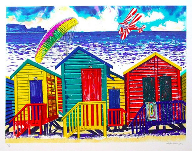 Beach Scene with Parasailor by Malcolm Morley at ARTContent Editions Limited