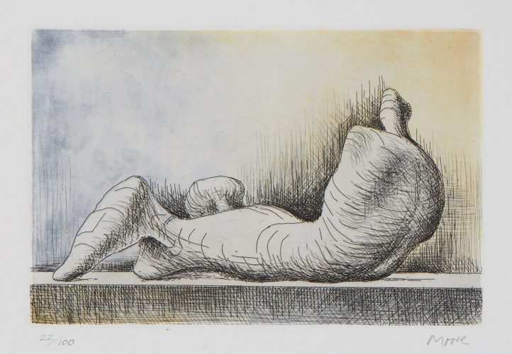 Reclining Figure, Back by Henry Moore at