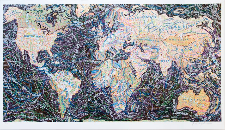 World Trade Routes by Paula Scher at ARTContent Editions Limited
