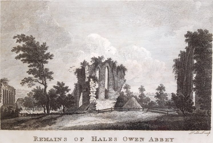 Remains of Hales Owen Abbey by James Caldwell at