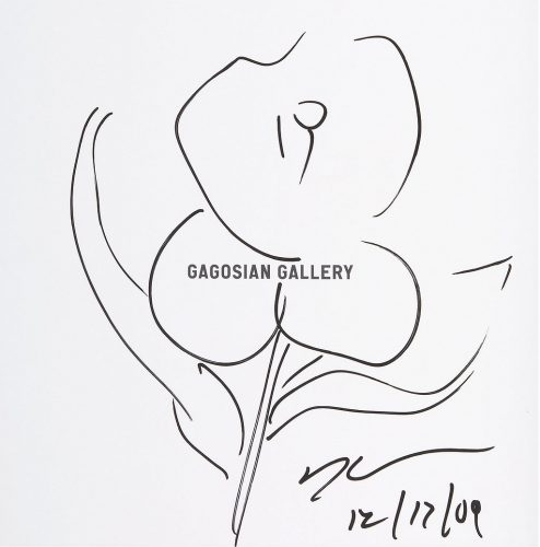 Original Flower Drawing by Jeff Koons at