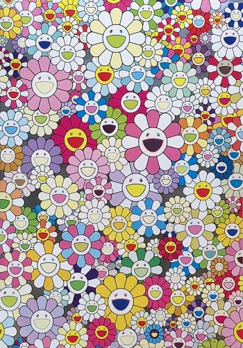 An Homage to Yves Klein, Multicolor A by Takashi Murakami at