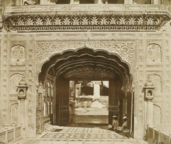 'The Golden Temple Exterior' 1858 Felice Beato Print by Felice Beato at