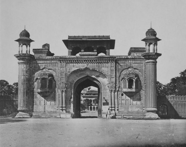 'Ram Bagh Gateway' 1858 Felice Beato Print by Felice Beato at