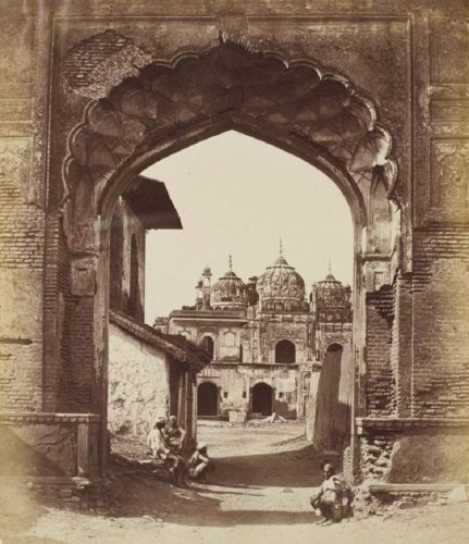 'Mughal Mosque' 1858 Felice Beato Print by Felice Beato at