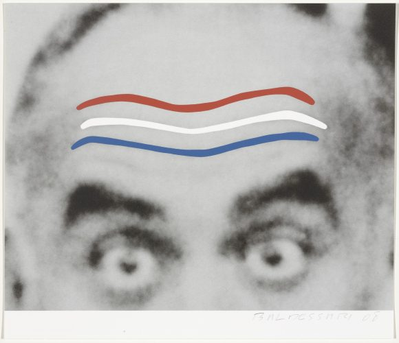 Raised Eyebrows/Furrowed Foreheads (Red, White, and Blue) from Artists for Obama by John Baldessari at