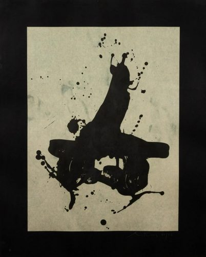 Black on Black by Robert Motherwell at