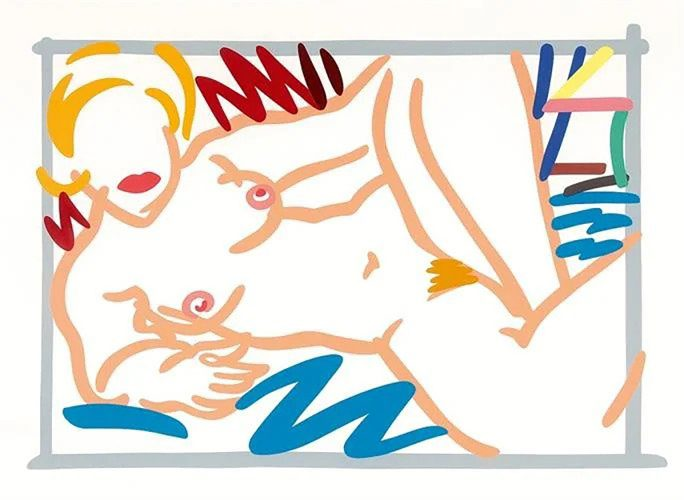 Judy on a Blue Blanket by Tom Wesselmann at
