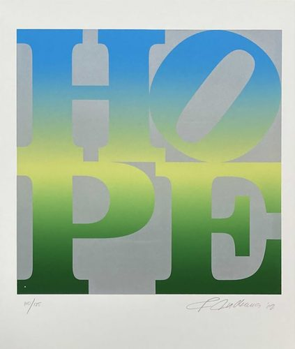 Four Seasons of Hope (Green) by Robert Indiana at