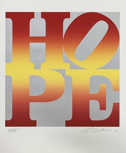 Four Seasons of Hope by Robert Indiana at