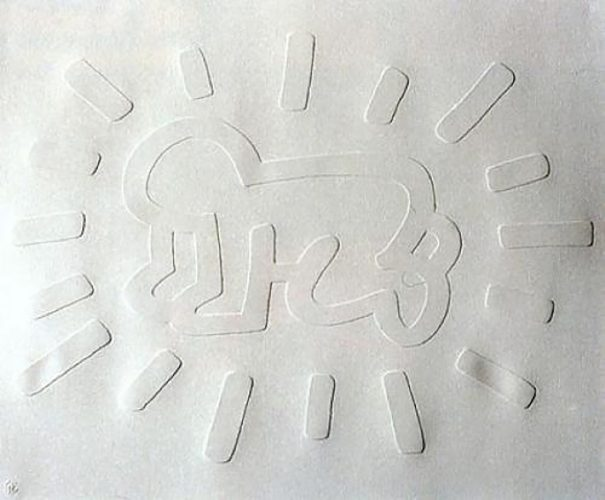 White Icons- Radiant Baby by Keith Haring at