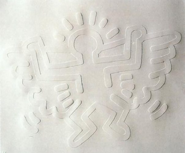 White Icons- Angel by Keith Haring at
