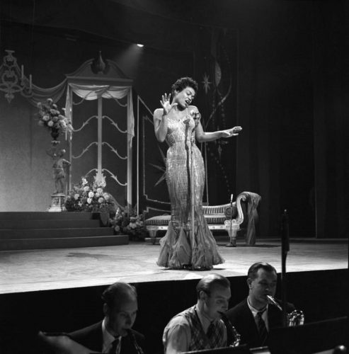 'Eartha Kitt On Stage' 1957 Harry Hammond Print by Harry Hammond at