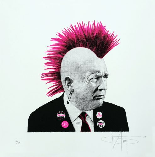Punk Trump – Pink Neon by K-Guy at
