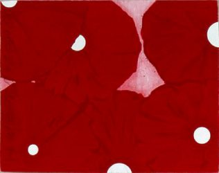 Six Red Flowers by Donald Sultan at