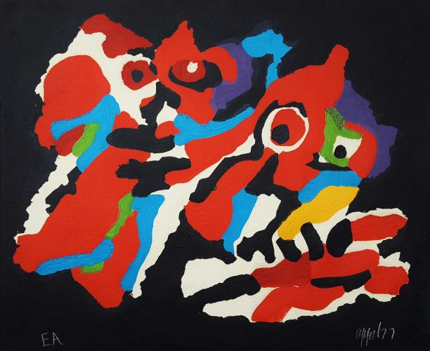 Couple in the Night by Karel Appel at