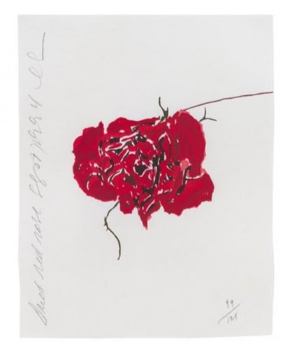 Dried Red Rose by Donald Sultan at