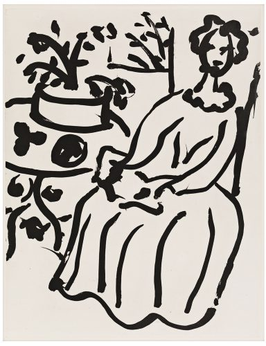 Marie-José en Robe jaune (Duthuit 817) by Henri Matisse at