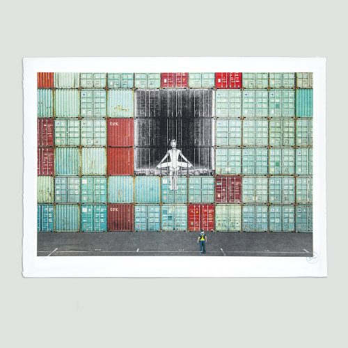 In the container wall, Le Havre, France, 2014 by JR at