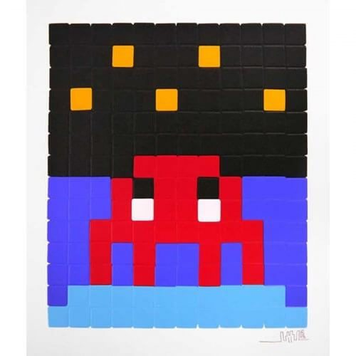 Space One (Red) by Invader at