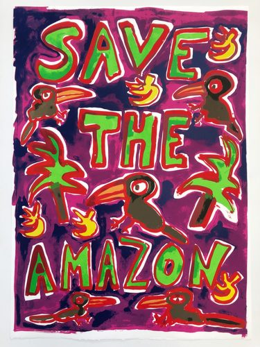 Save The Amazon (Pink) by Katherine Bernhardt at