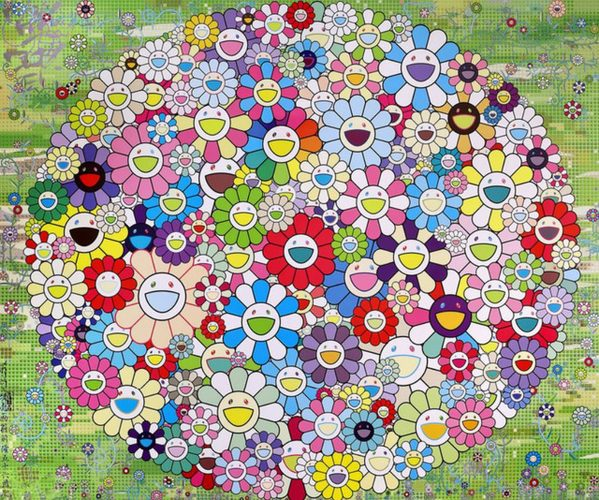 Korpokkur in the Forest by Takashi Murakami at