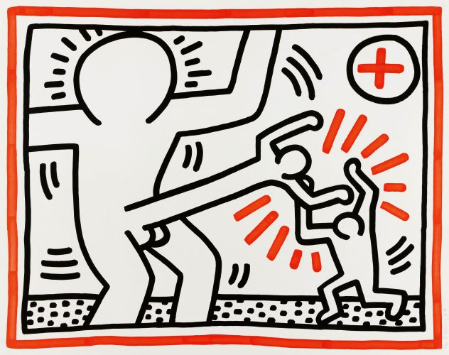 From: 'Three Lithographs' by Keith Haring at