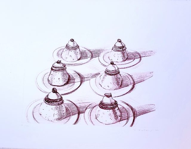 Six Italian Desserts by Wayne Thiebaud at G. W. Einstein Company