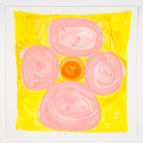 Inner Vision: Pink + Yellow + Orange by Judy Ledgerwood at