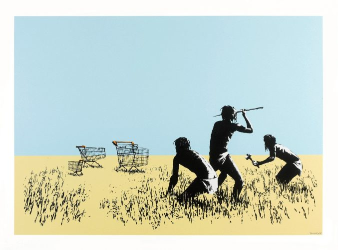 Trolleys (Colour) by Banksy at