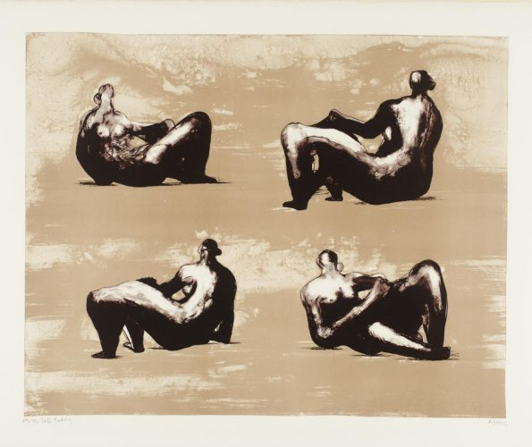 Four Reclining Figures by Henry Moore at