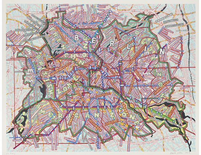 Berlin by Paula Scher at ARTContent Editions Limited
