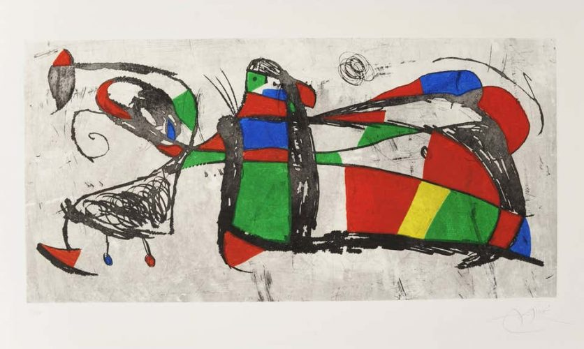 Joan Miro, Tres Joans by Joan Miro at Andrew Weiss Gallery