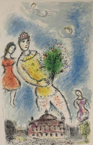 In the Sky of the Opera by Marc Chagall at