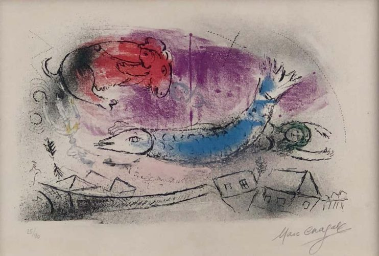 The Blue Fish by Marc Chagall at