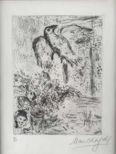 Nature Morte au Grande Oiseau by Marc Chagall at