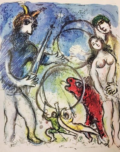 Plate 8 from In the Land of the Gods by Marc Chagall at