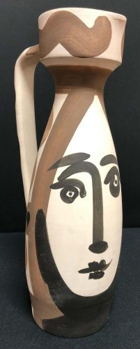 Face Turned Pitcher by Pablo Picasso at