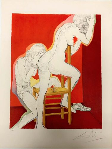 Without Hope from Marquis de Sade by Salvador Dali at