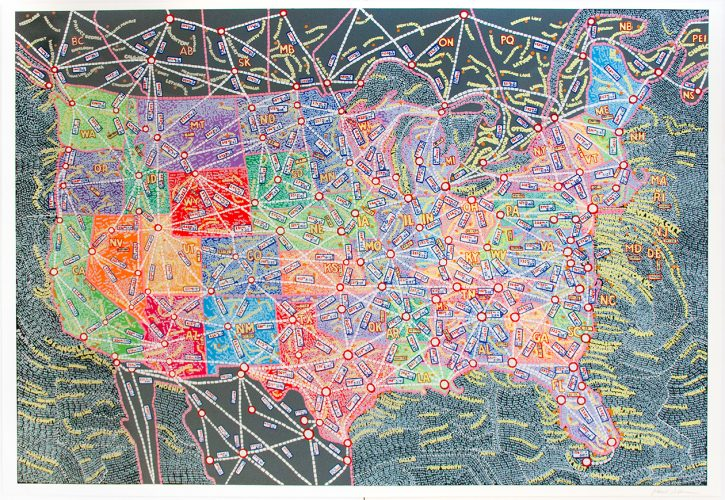 USA – Distances by Paula Scher at ARTContent Editions Limited