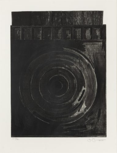 Target with Plaster Casts (Black & White) by Jasper Johns at Jasper Johns