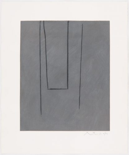 Slate Grey Pintura by Robert Motherwell at