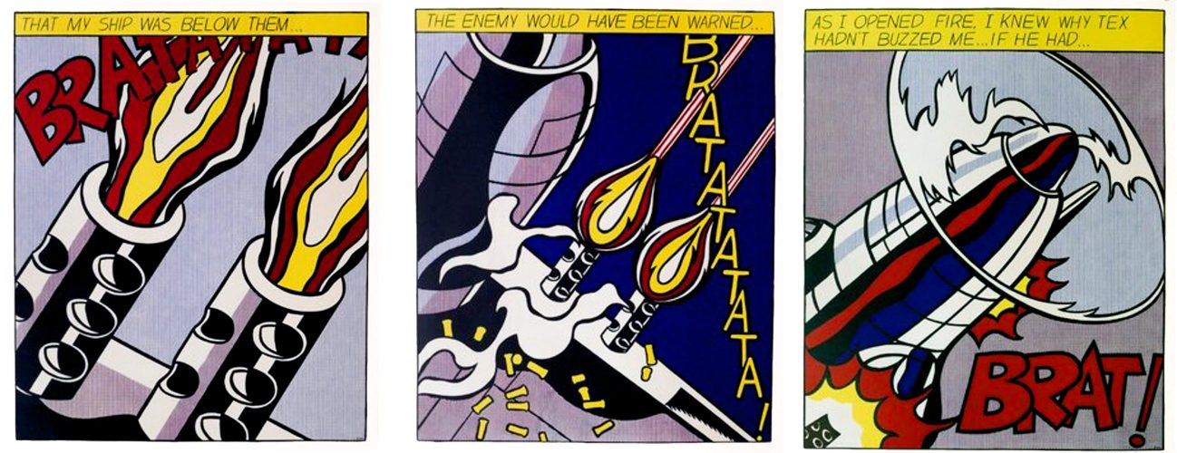 As I opened fire by Roy Lichtenstein at