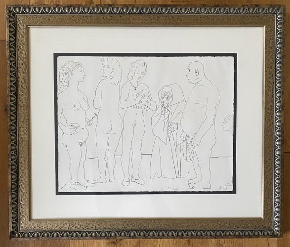 Personages et colombe by Pablo Picasso at